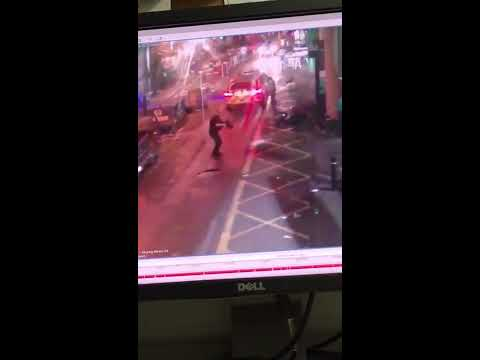 Graphic cctv of the London attack