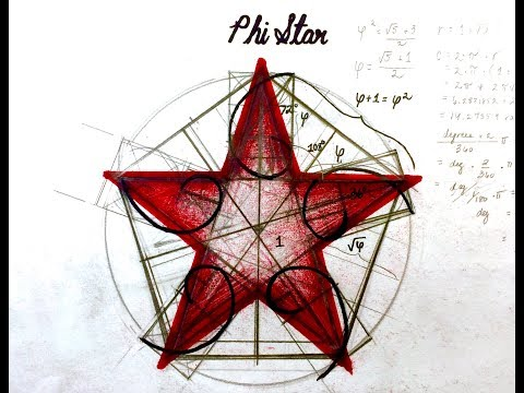 PHI STAR: How to Draw Pentacle with Phi Proportions and Fibonacci Spirals (Sacred Geometry)