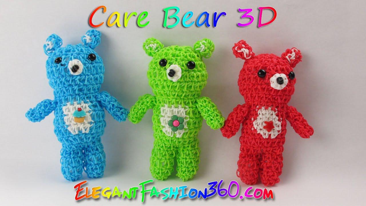 Rainbow Loom Bears Care Bears Teddy Bears 3d Charms How