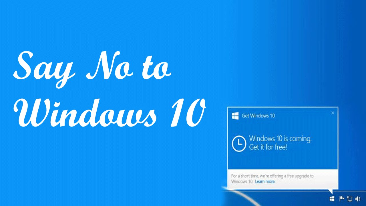 how to disable update from windows 7 to windows 10