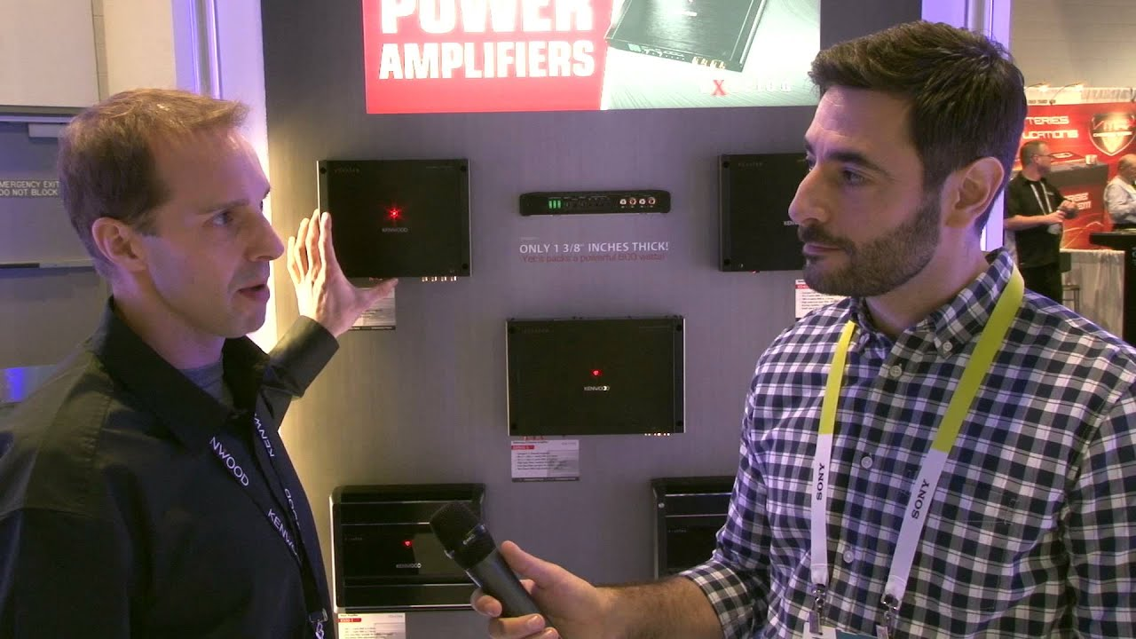 Kenwood Excelon Xr Amps Ces 2015 First Look Crutchfield Video Head Unit To Power The Basslink Leads Showing