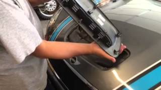 How to: Remove / Install  hood scoop on 2007-2013 Mini Cooper S model