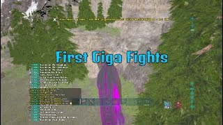 Destroying Small Tribes with Flyers & Gigas | Ark Official SmallTribes PvP PS4