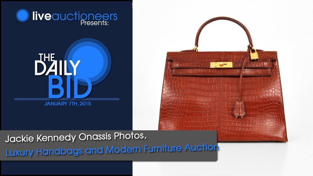 Jackie Kennedy Onassis Photos Luxury Handbagodern Furniture Auction The Daily Bid You