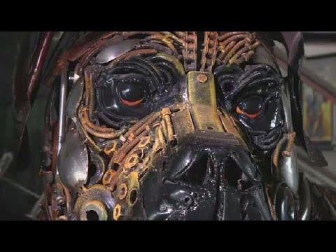 Artist tells Nigeria's story through sculptures made from scrap metal