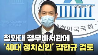 靑 정무비서관에 '40대 정치신인' 김한규 검토 / 연…
