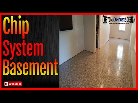 Decorative Concrete Resurfacing Basement Floor   Epoxy Chip System Lake Ozark MO