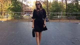 """Платье с перьями из коллекции """"Черный лебедь"""". Зуева Наталья."""