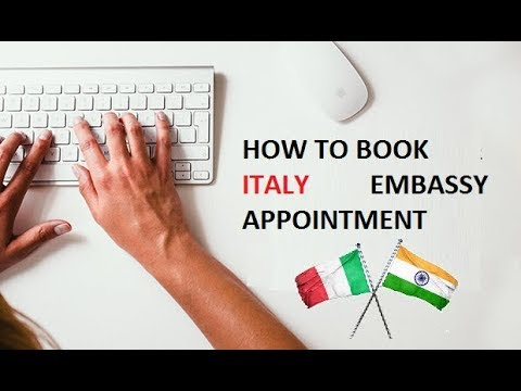 How To Book An Appointment For Italy Embassy In India 2020 Youtube