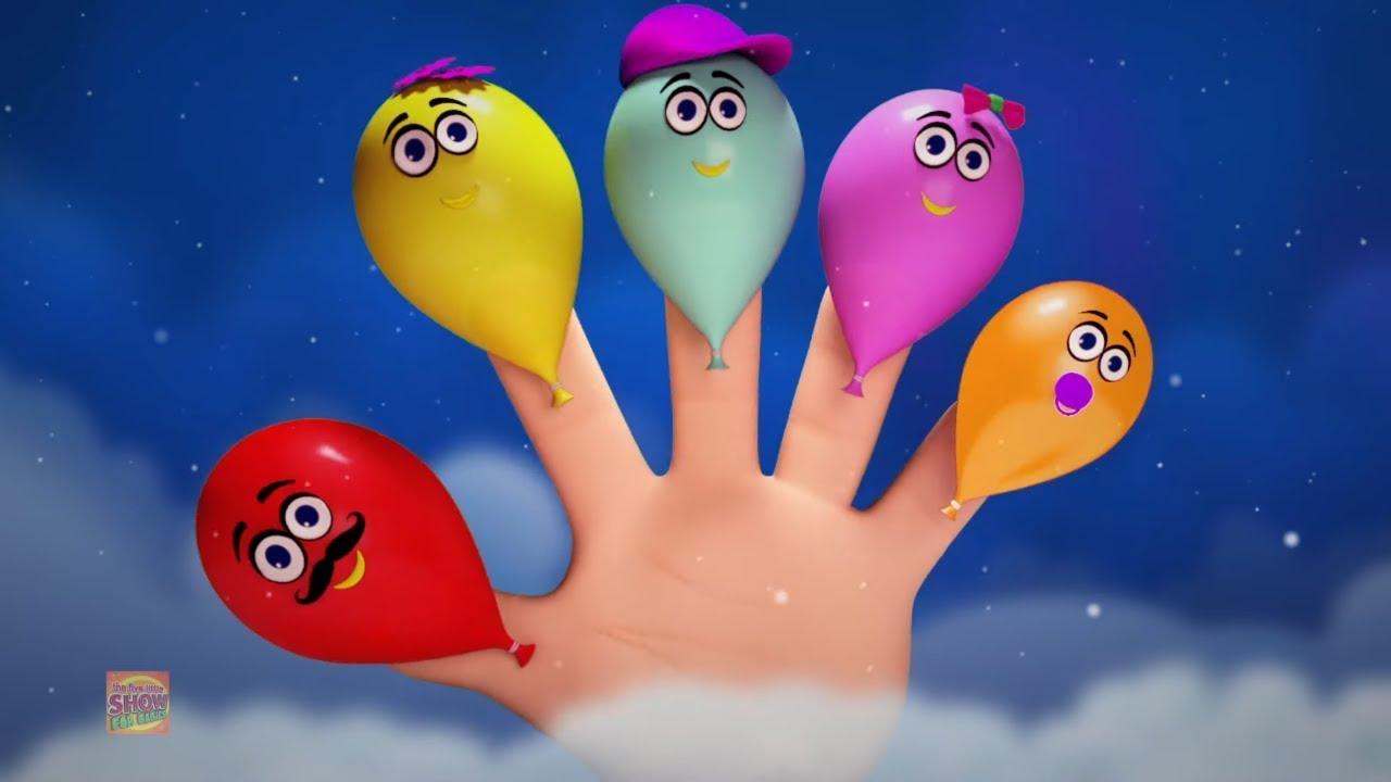 Balloons Finger Family   Balloons Song   Nursery Rhymes & Children Songs