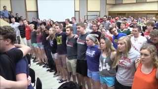Singing Varsity, last time for the 2014-15 Wisconsin Band