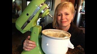 How I make ice cream using my KitchenAid mixer!