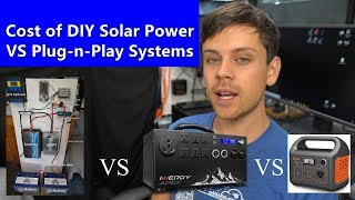 Inergy Apex and Jackery -VS- DIY for Off-grid Solar