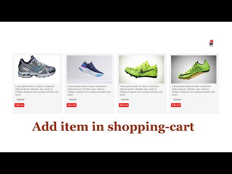 Add Or Store Item In Shopping Cart Or Basket Using Css And Javascript
