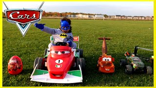 PLAYTIME AT THE PARK Disney Pixar Cars Power Wheels GIANT RC MONSTER TRUCK Car Giant Egg Surprise