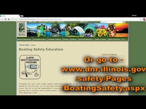 How to Register for the Illinois Boating Safety Course