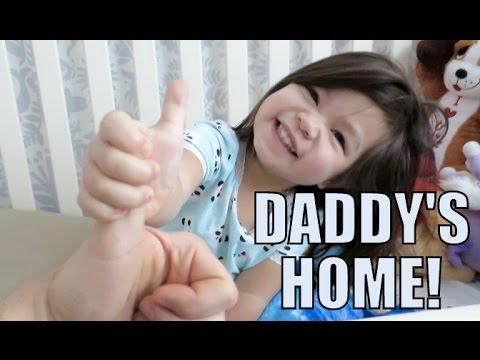 DADDY'S BACK HOME!!! - February 23, 2016 -  ItsJudysLife Vlogs