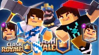 Minecraft: CLASH ROYALE - VIRAMOS CARTAS LENDÁRIAS!!!! (NOVA SÉRIE)