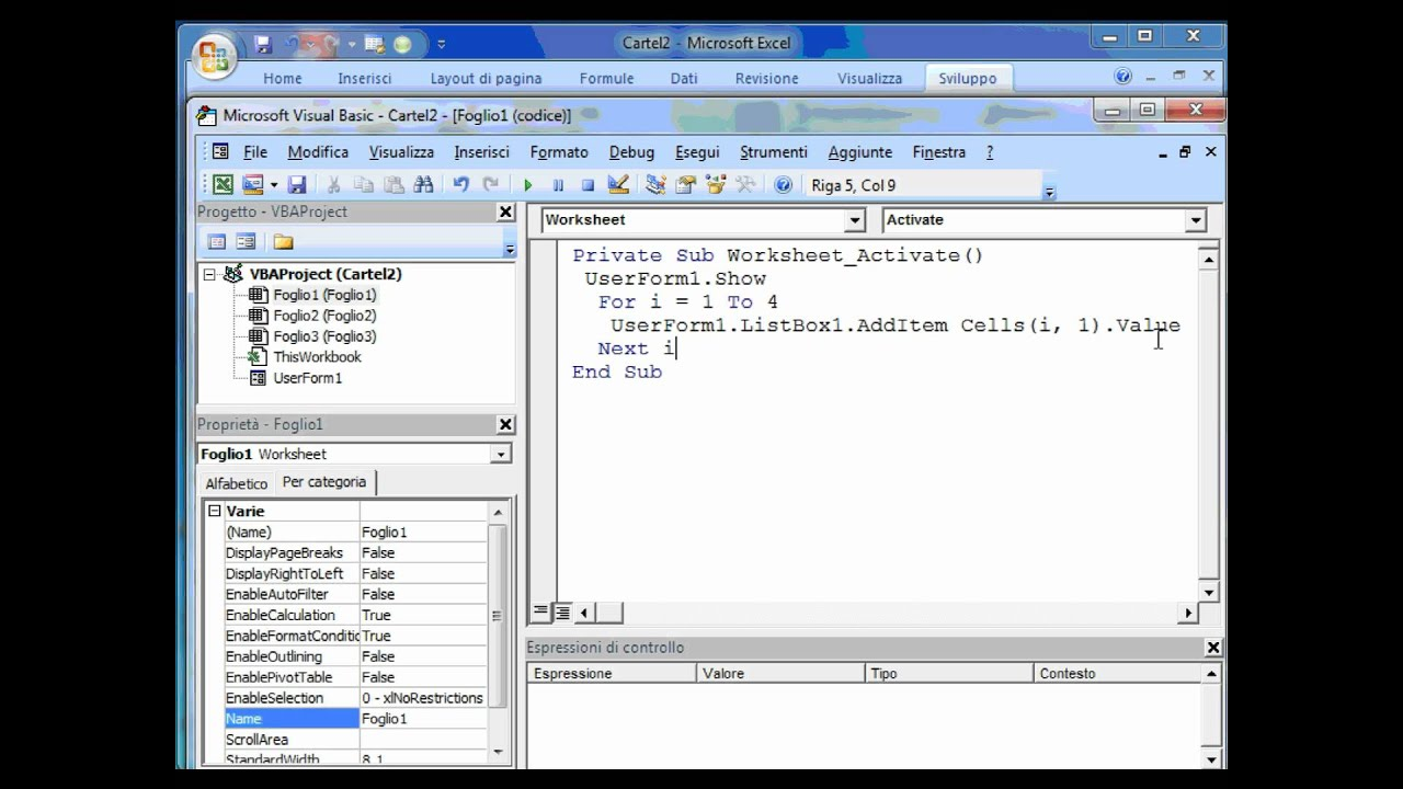 Excel Vba Listbox