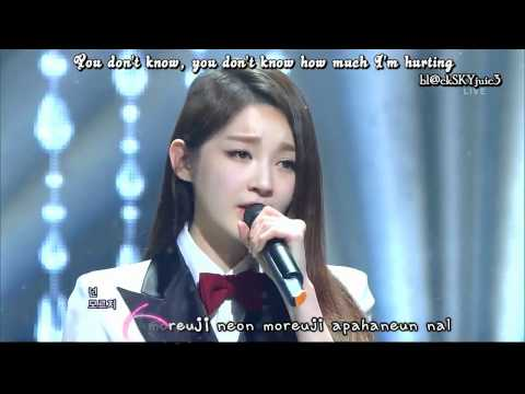 Davichi & T-Ara - We Were In Love LIVE [eng sub + kara rom]