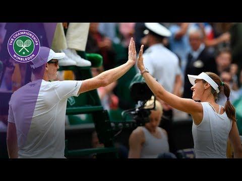 Martina Hingis & Jamie Murray progress to the Wimbledon 2017 mixed doubles semi-finals