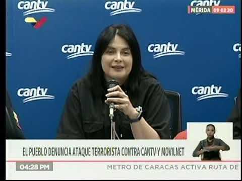 Rueda de prensa por ataque terrorista a almacén de Cantv/Movilnet en Flor Amarillo, 10 febrero 2020