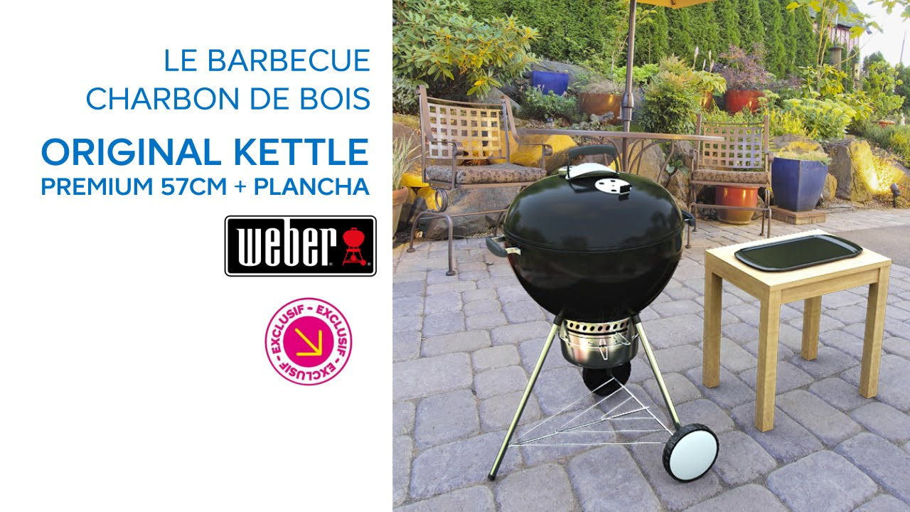 barbecue original kettle premium 57 cm plancha weber 679160 castorama youtube. Black Bedroom Furniture Sets. Home Design Ideas