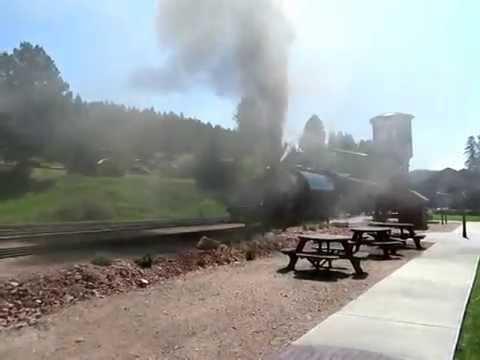 1880 Train Leaving Hill City SD