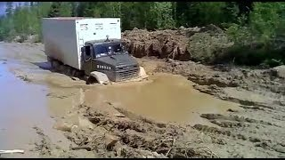 truck kraz 6x6 in hard off road   краз 6х6 тяжелое бездорожье