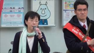 先の府議会で森友学園問題について鋭い質疑をした石川たえ大阪府議会議...