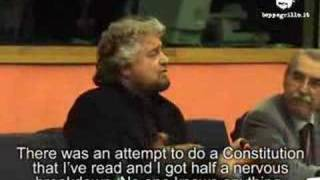 Beppe Grillo at the European Parliament