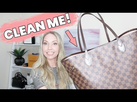 How To Clean Louis Vuitton Bag In 5 Minutes! (NEVERFULL HANDBAG)