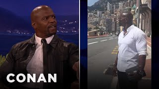 Terry Crews Isn't Afraid To Rock The Man-Purse  - CONAN on TBS