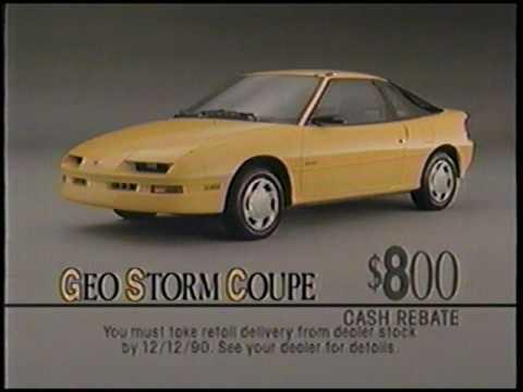 1991 Chevy Geo Storm Ad