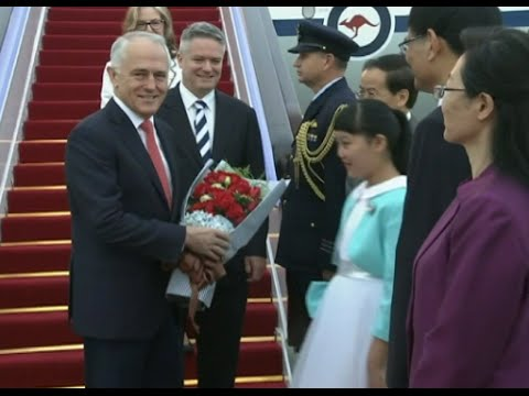 Australian Prime Minister Arrives in Hangzhou for G20 Summit