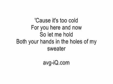 Sweater Weather by The Neighbourhood acoustic guitar instrumental cover with onscreen lyrics karaoke