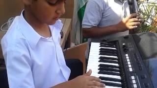 Pakistani National Anthum by Sulman Sarfraz with Music Teacher Akash