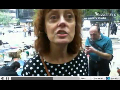 Interview with Susan Sarandon during her visit to the Occupy Wall Street Protestors