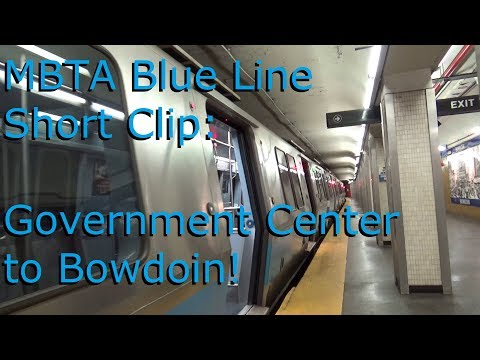 MBTA Blue Line from Government Center to Bowdoin Station