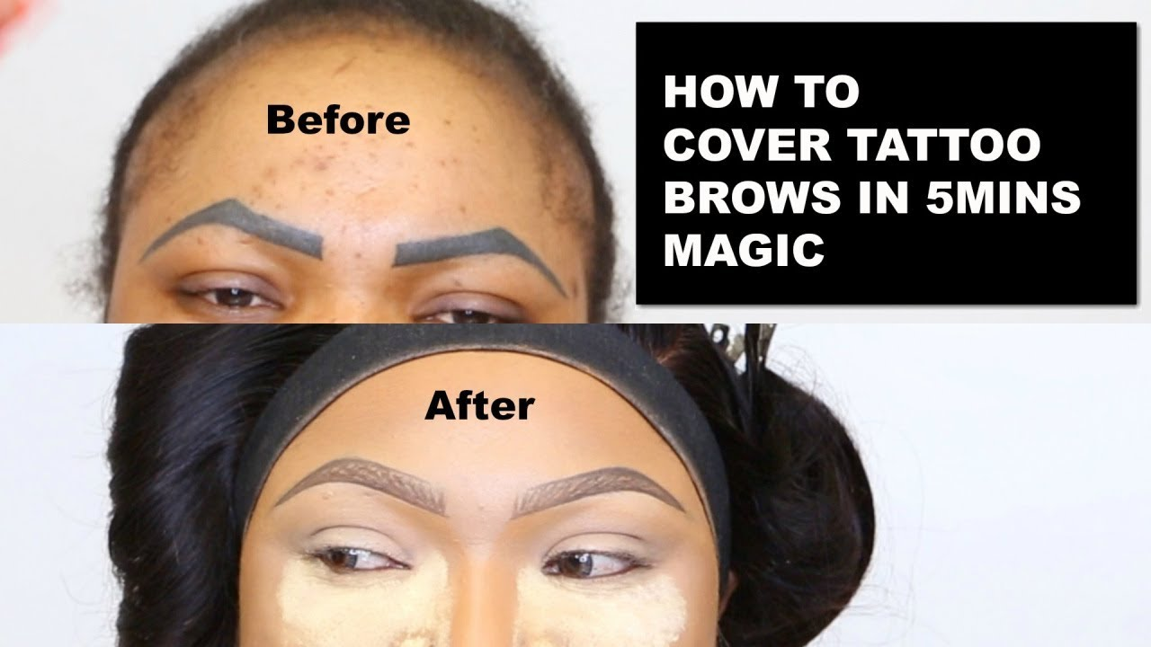 ️HOW TO COVER TATTOO EYEBROWS 🔥DETAILED BROWS TUTORIAL ...