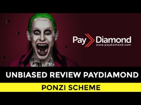 REVIEW PAYDIAMOND. PONZI SCHEME DISGUISED AS MLM WITH 250% ROI.