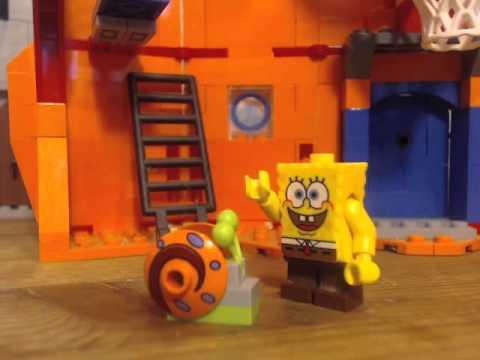 lego spongebob gary takes a bath
