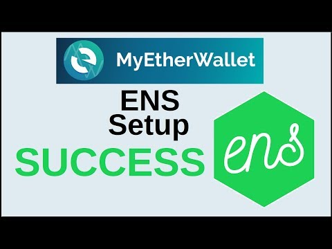 How to Setup an Ethereum ENS Name with My Ether Wallet