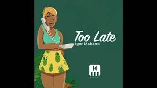 Igor Mabano - Too late (Official Audio)