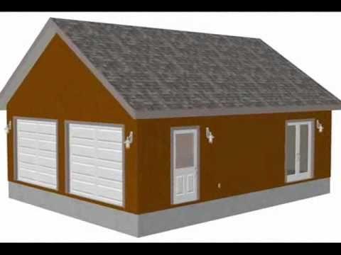 g472 24 x 30 x 9 two car garage plans with scissor truss YouTube – Garage Plans 24 X 30