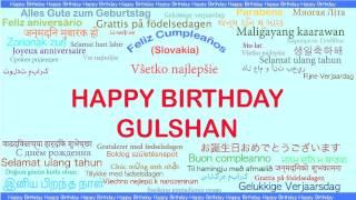 Gulshan   Languages Idiomas - Happy Birthday