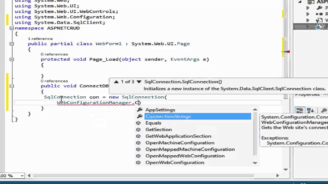 Setting up connection string in ASP NET to SQL SERVER