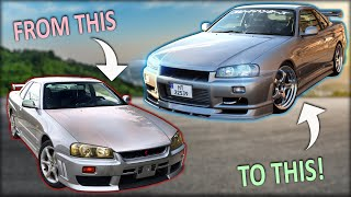 BUILDING A SKYLINE R34 IN 10 MINUTES!