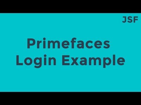 JSF-JPA-Primefaces Login Example