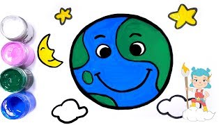 How to Draw The Earth   Coloring & Drawing for Kids